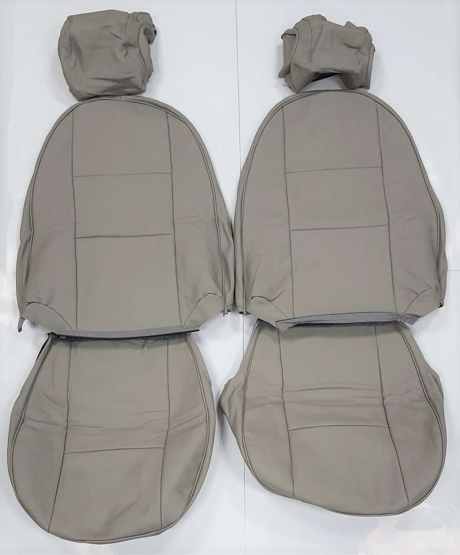 Front Leather Seat Covers In Beige Parchment For Saab 900